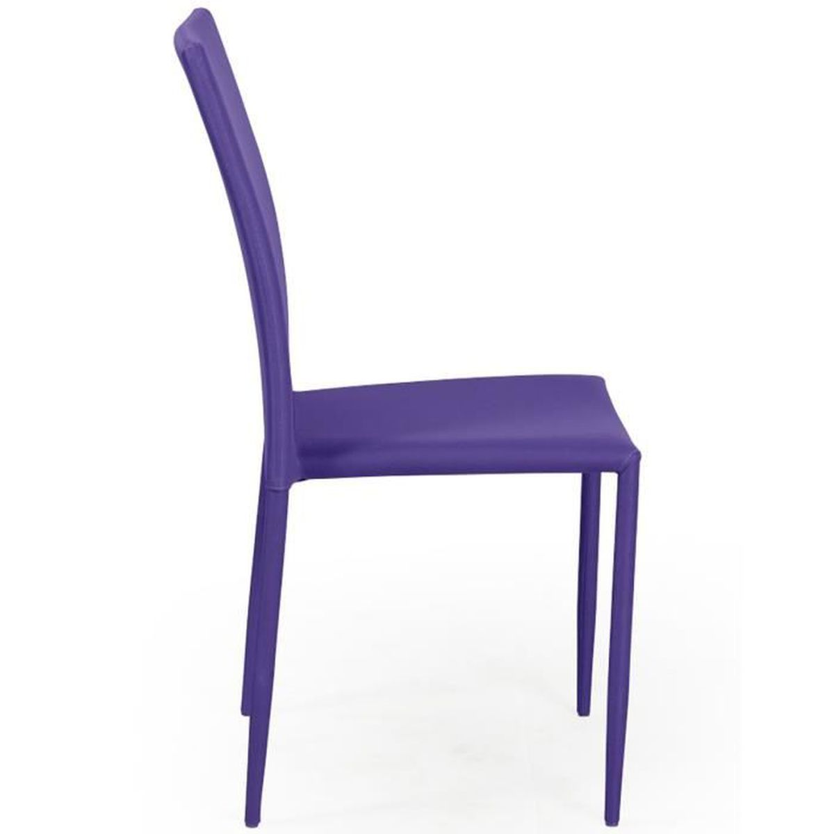 f3a573db939216 Loola - Lot 4 Chaises Prune - Achat / Vente chaise Violet - Cdiscount
