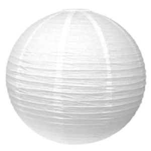 LANTERNE FANTAISIE Lampion abat jour blanc 20 cm