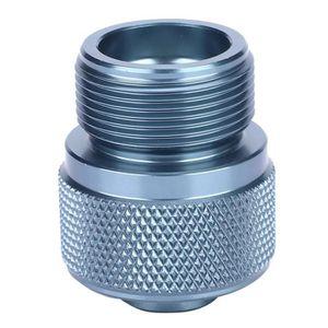 Pratique Propane R/éservoir De Gaz Entr/ée En417 Valve R/éservoir Plat Sortie De Camping en Plein Air Po/êle Convertir Cylindre Cartouche Adaptateur