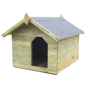 NICHE Niche de jardin avec toit ouvrant pour chien Pin i