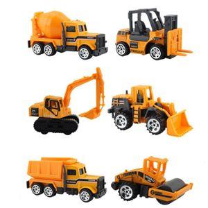 VOITURE - CAMION 6pcs Set Vehicules de Chantier Mini Jouet Camion A