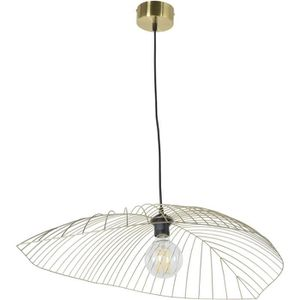 LUSTRE ET SUSPENSION LEAF Suspension métal - L 80 x H 15 cm - Jaune lai