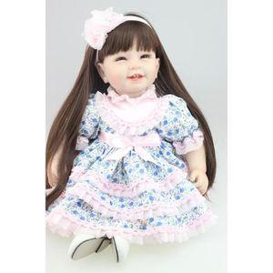 POUPÉE 22 pouce 55 cm vraie fille poupée reborn bébé joue