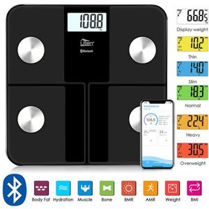 PÈSE-PERSONNE UTEN®  Pèse Personne Bluetooth, 180kg/400lb Mesure