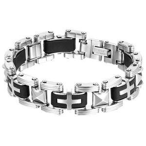 BRACELET - GOURMETTE oidea Messieurs Croix Poussoir Bracelet, Largeur 1