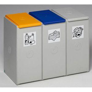 POUBELLE - CORBEILLE Poubelle de tri - poste 3 poubelles pour 40 l, lar