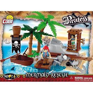 ASSEMBLAGE CONSTRUCTION Pirates - L'ile des pirates 140 pièces, 2 figurine