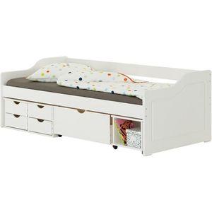 LIT COMBINE  Lit fonctionnel SENTA avec rangements 4 tiroirs 1