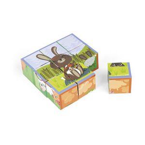 PUZZLE Janod J02989 - Kubkid - Animaux Ferme - 9 Cubes TO