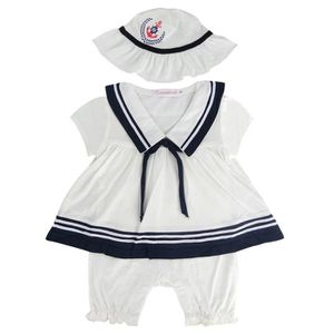 Ensemble de vêtements Vêtements bébé Fille Newborn Marin Robe Costume Co