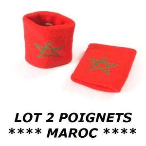 POIGNET ÉPONGE LOT 2 Bracelets poignet éponge 100% coton MAROC MA