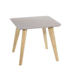 Table carree grise achat vente table carree grise pas - Table de salon grise ...