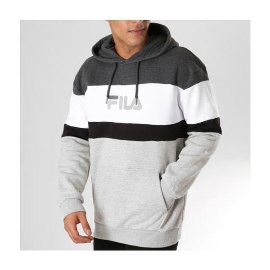 Sweat Fila Larry Hooded 680494 A098 Gris. Gris Achat