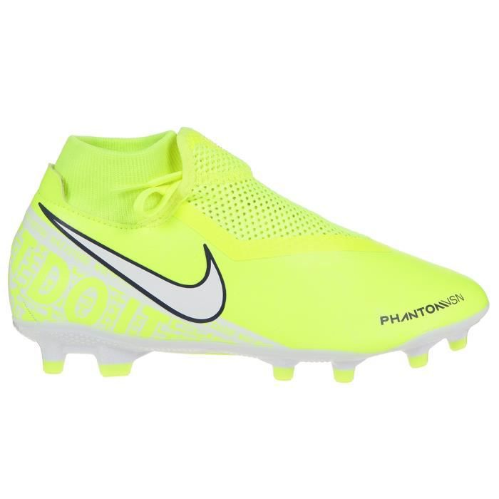 NIKE Chaussures de football Phantom VSN Academy DF FG/MG - Homme - Jaune