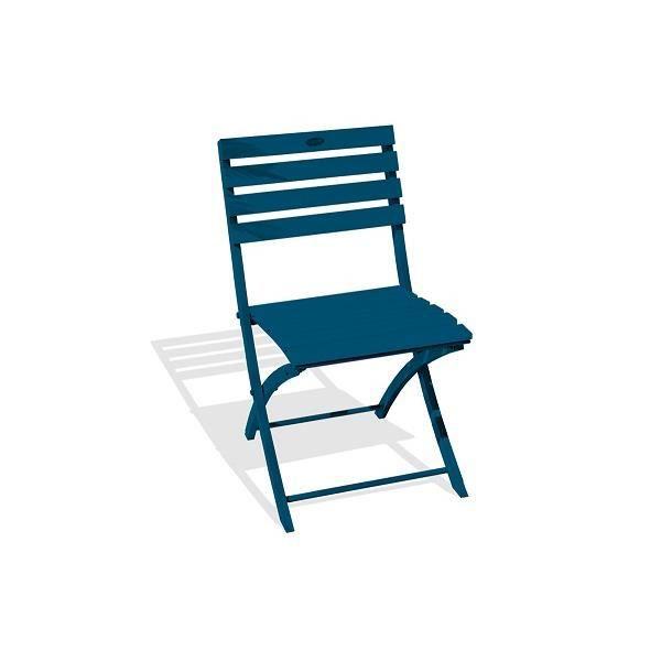 Chaise pliante MARIUS en aluminium Bleu 5009 ALUMOB
