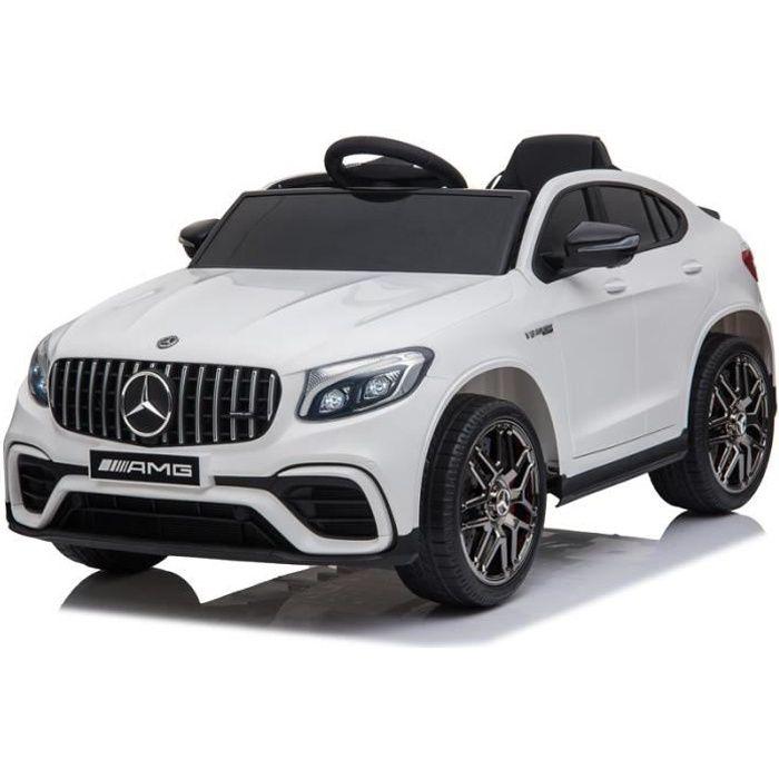 Mercedes GLC Coupé Blanc - Voiture électrique pour enfant avec batterie 12v et télécommande