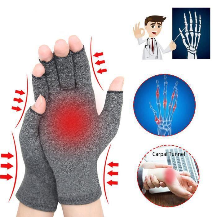M-1 paire De Compression Gants D'arthrite Soulagement Des Douleurs Articulaires Gants Thérapie Doigts Ouverts Gants De Compression
