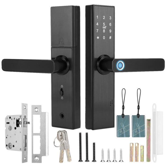 Serrure de porte intelligente à écran tactile avec empreinte digitale-SHC
