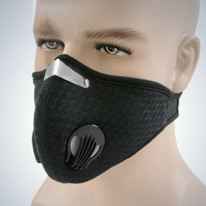 Masque anti-poussière extérieur demi-masque bouche-moufle coupe-vent pour le ski de vélo HHA90523966BK_1788