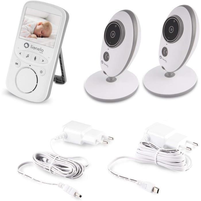 Lionelo Babyline 5.1 babyphone video moniteur bébé sans fil jusqu'à 300 m deux caméras communication bidirectionnelle mode nu 128