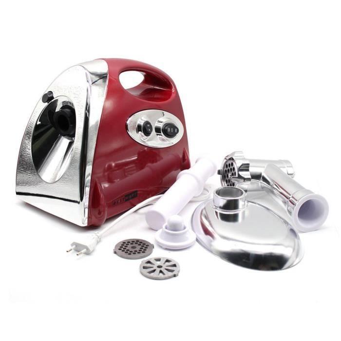 Hachoir à Viande Electric Meat Grinder Machine à Saucisse Electrique 800W (rouge)