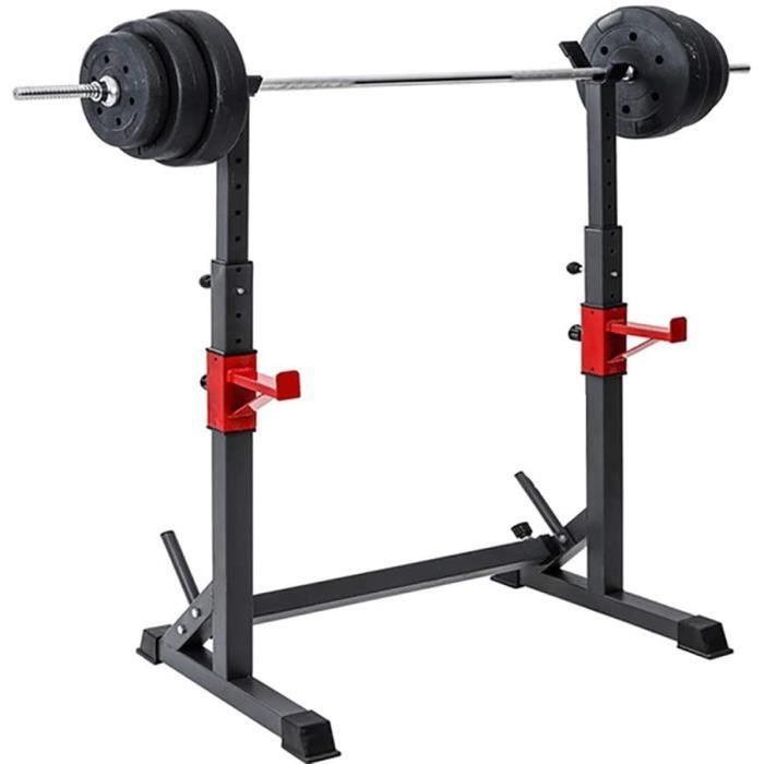 BANC DE MUSCULATION Rack de Squat &agrave Hauteur r&eacuteglable, Musculation Fitness Fitness Barbell, Squat Stands Rack Barbe128