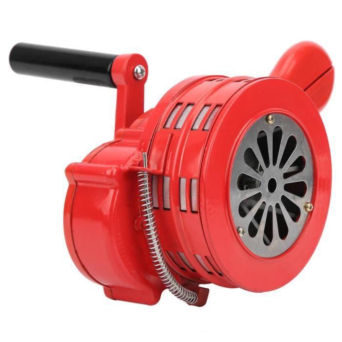 EBTOOLS Sirène à manivelle Alarme manuelle portative rouge de sirène de manivelle pour les troupes d'écoles alarmant 120DB