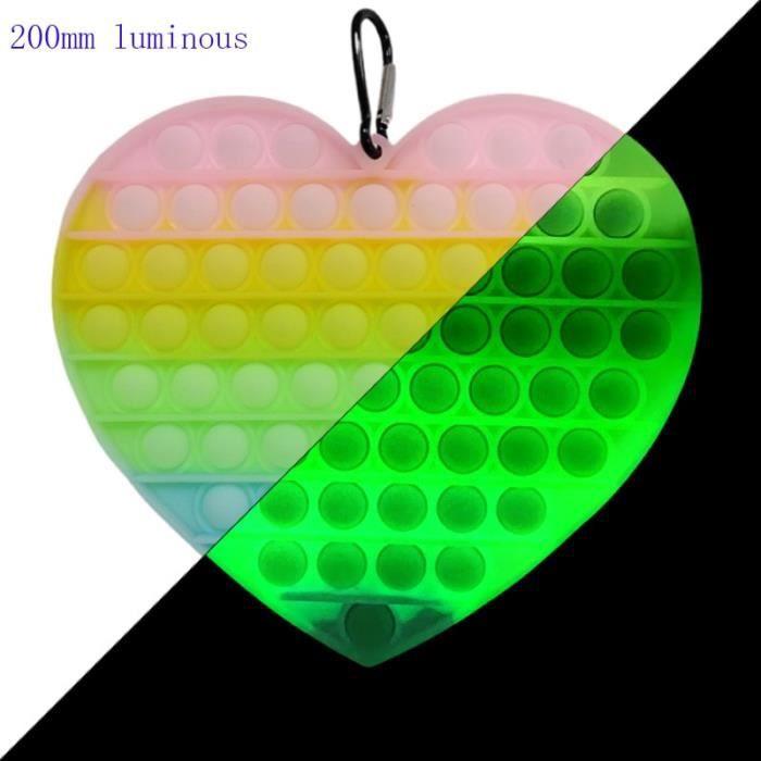 couleur 20cm-011 POPIT grande taille 30cm - 20cm, fossettes simples, et jouets pour adultes enfants Sensoriel