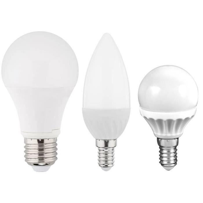 Ampoule LED flamme - 5,5W - E14 - blanc chaud - Pack éco de 4