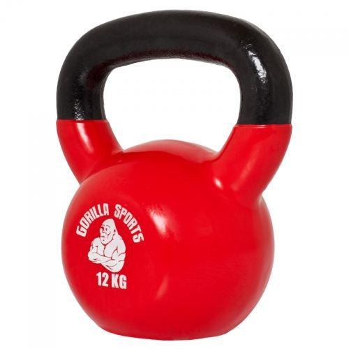 Gorilla Sports Poids Kettlebell 12kg fonte vinyle