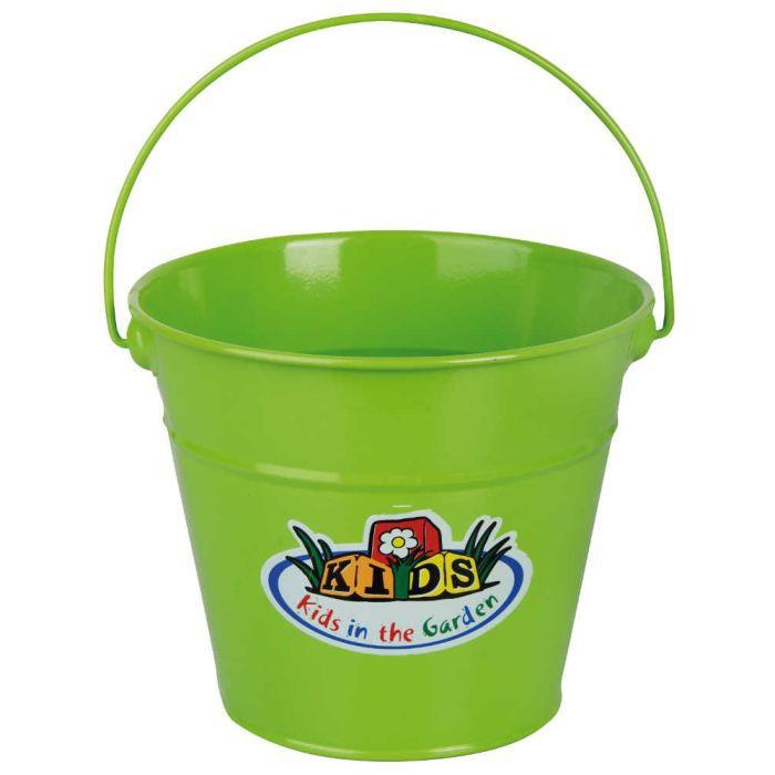 Seau pour enfant en zinc vert
