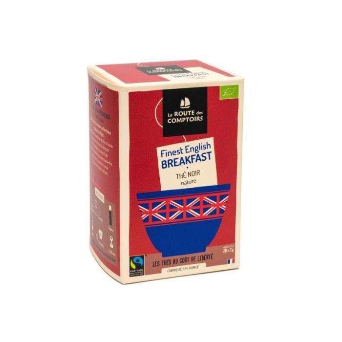 Thé Noir English Breakfast Bio - Boite de 20 sachets