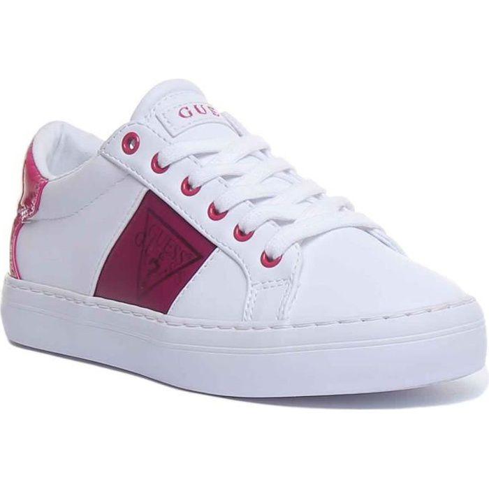 Guess Gallie Baskets à lacets pour femmes en blanc violet