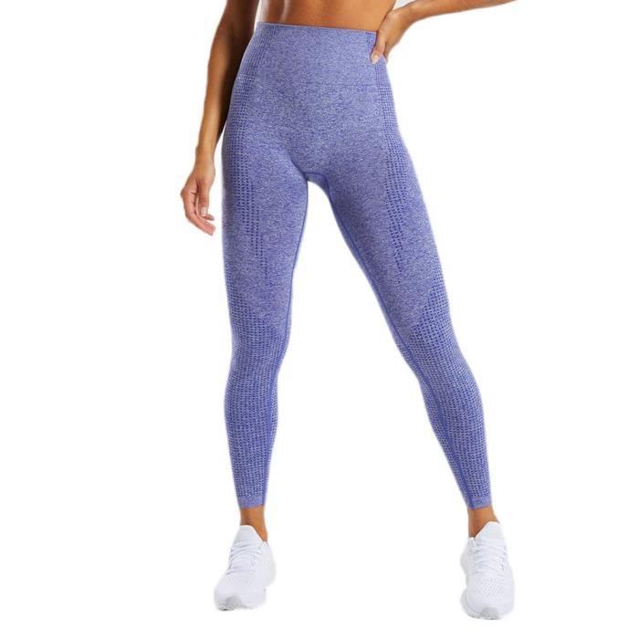 Legging Sport Femme Taille Haute Slim Fit Legging Yoga Push Up Butt Lift Collant de Compression Pour Fitness Gym Pilates,Bleu Saphir