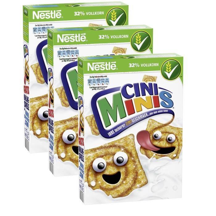 Nestlé Cini Minis cannelle & grain céréales 3 x 375g