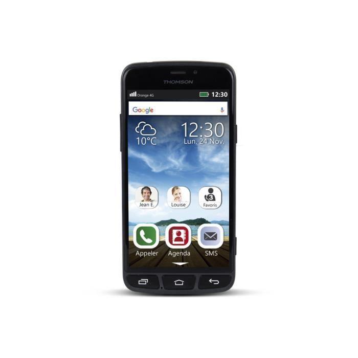 THOMSON SEREA500 - Smartphone Senior à usage simplifié - Touche d'appel d'urgence avec géolocalisation