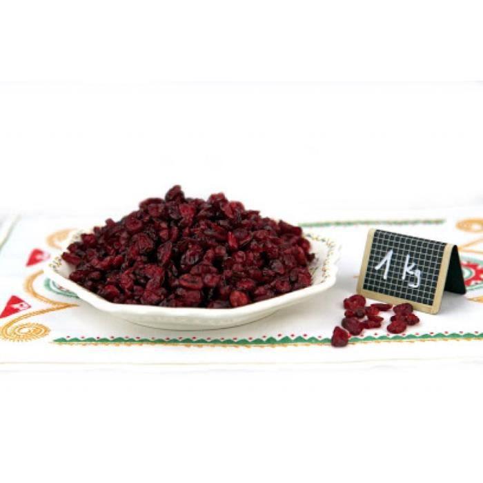 Baies de Canneberge/Cranberry séchées 1kg - Tipi