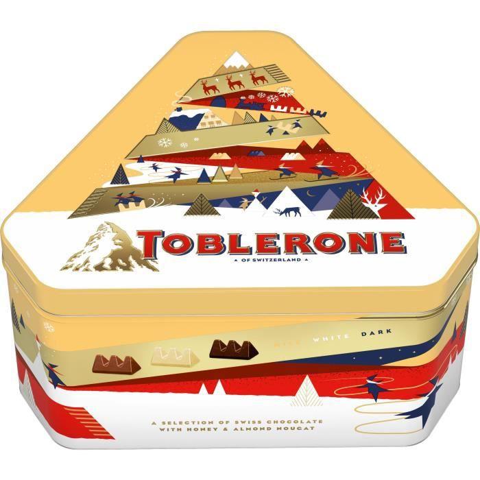 TOBLERONE - Assortiment de Chocolats de Noël - Boîte métal de 368 g