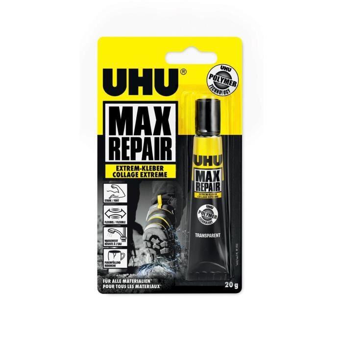 UHU Colle de réparation 45820 Max Extreme - Tube 20 g: Fournitures de bureau