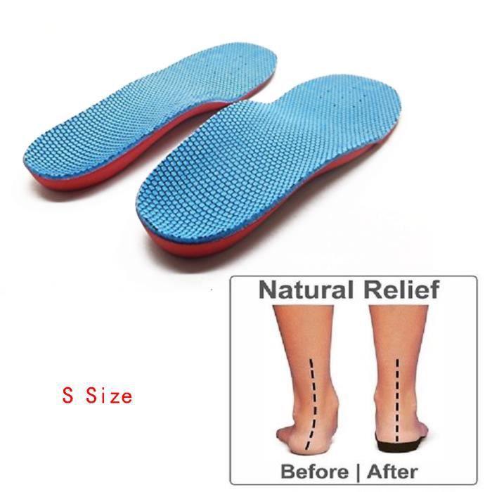 Vococal® Support plantaire orthopédique pied plat Flatfoot Correction pied douleur soulagement semelle intérieure pour enfants K...
