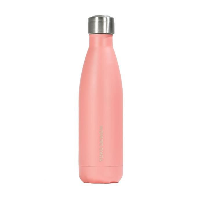 YOKO DESIGN Bouteille isotherme 500ml MY SMARTBOTTLE Pastel corail