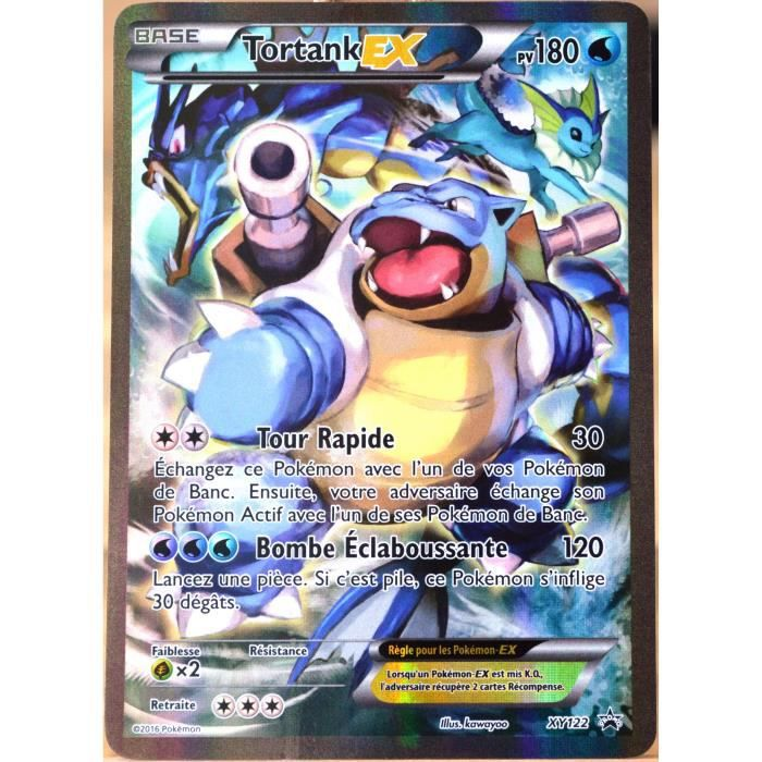 Carte pok mon xy122 tortank ex 180 pv full art promo fr achat vente carte a collectionner - Carte pokemon ex rare a imprimer ...