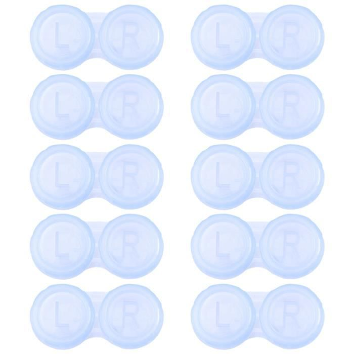LENTILLES DE CONTACT 10pcs bo?tiers pour lentilles cornéennes simples à