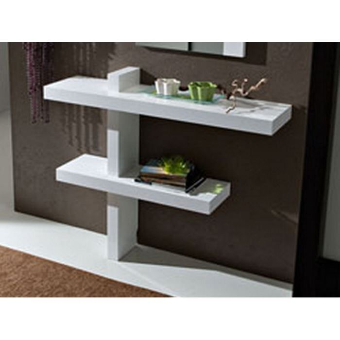 console moderne blanche 39 santa 39 achat vente console. Black Bedroom Furniture Sets. Home Design Ideas
