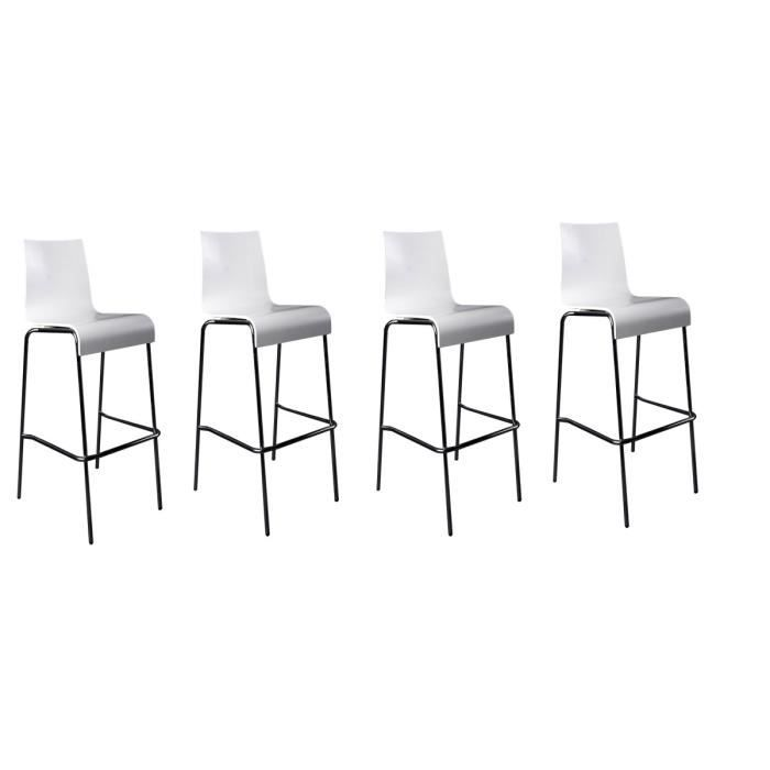 lot de 4 tabourets de bar forest bois blanc achat vente tabouret de bar cdiscount. Black Bedroom Furniture Sets. Home Design Ideas