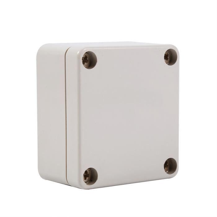 Bo/îte de Jonction /Étanche,Bo/îtier Ext/érieur pour Projet ABS Degr/é de Protection est IP65 20 x 12 x 5,5 cm Cette Bo/îte de Jonction est Principalement Utilis/ée pour /Électricit/é et Ext/érieure