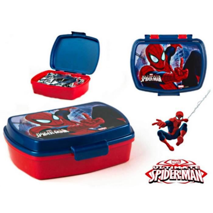 boite a gouter spiderman lunch box rouge bleu 17 x 13 cm achat vente boites de conservation. Black Bedroom Furniture Sets. Home Design Ideas