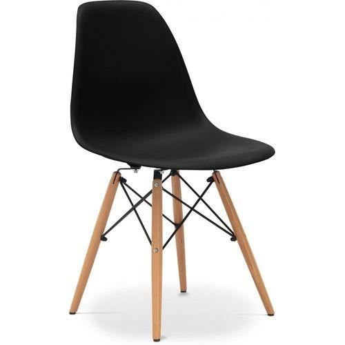Chaise dsw eames style noire achat vente chaise noir for Achat chaise eames