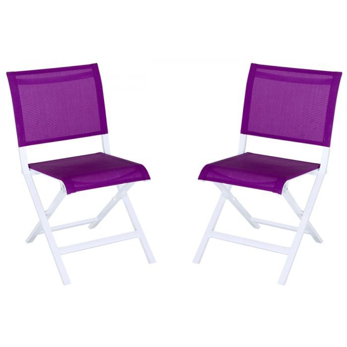 lot 2 chaises pliantes montezalo violet achat vente fauteuil jardin lot 2 chaises pliantes. Black Bedroom Furniture Sets. Home Design Ideas