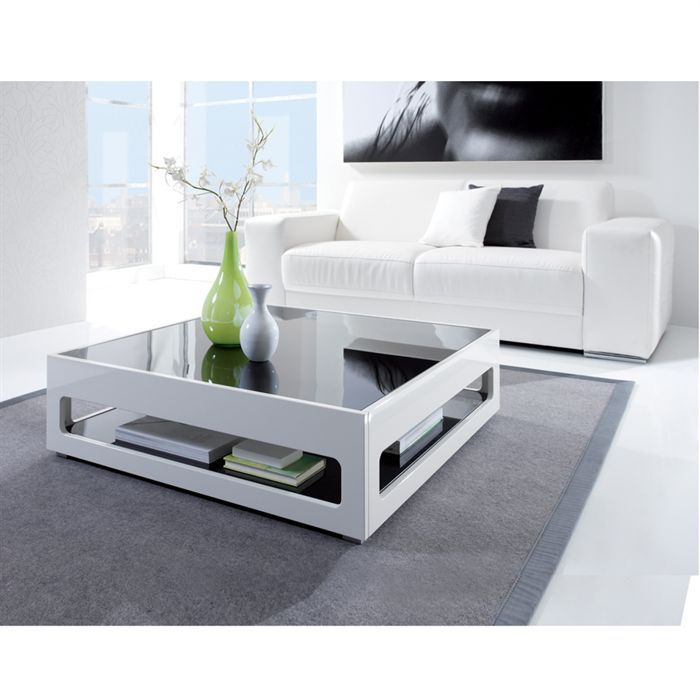 Chill table basse carr e plateaux en verre achat vente table basse chill - Table basse en verre blanc ...